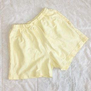 Vintage Yellow High Waisted Athletic Shorts